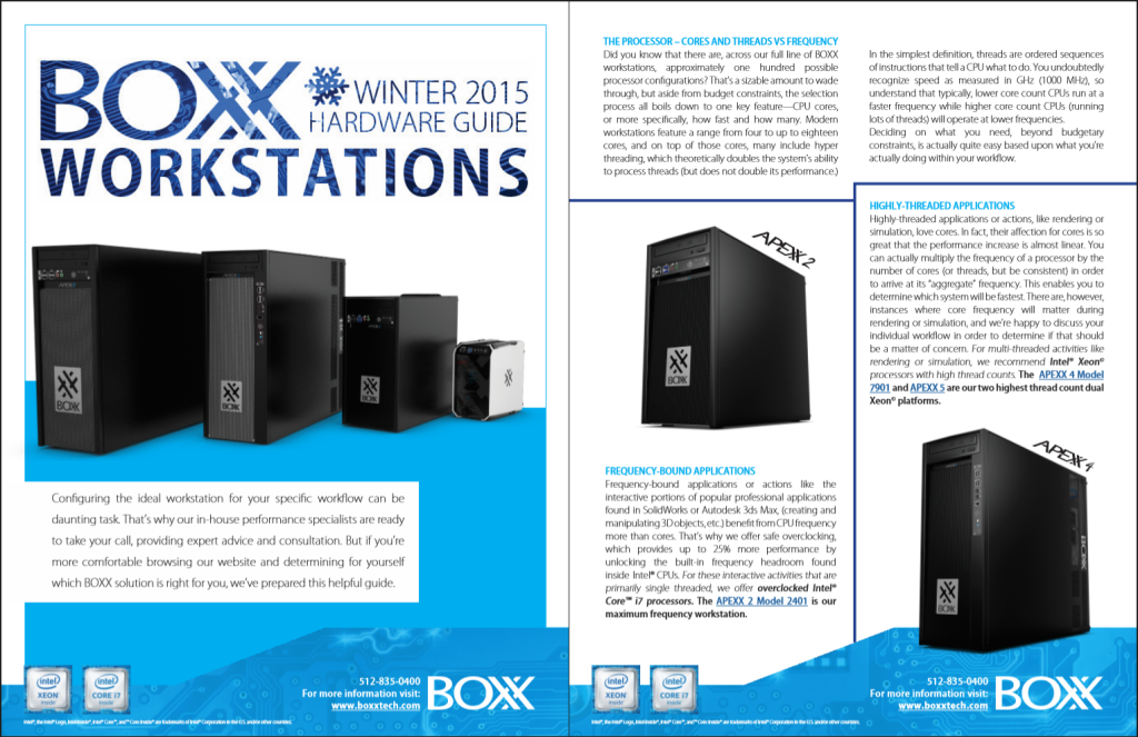 Sample pages from our exclusive workstation hardware guide.